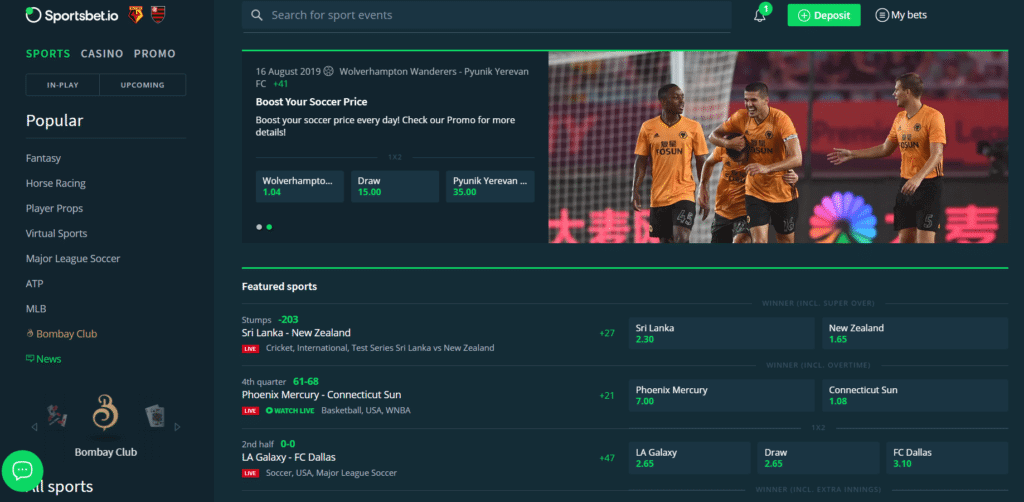 Sportsbet.io Screenshot