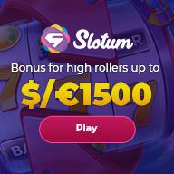 Slotum High Roller Bonus